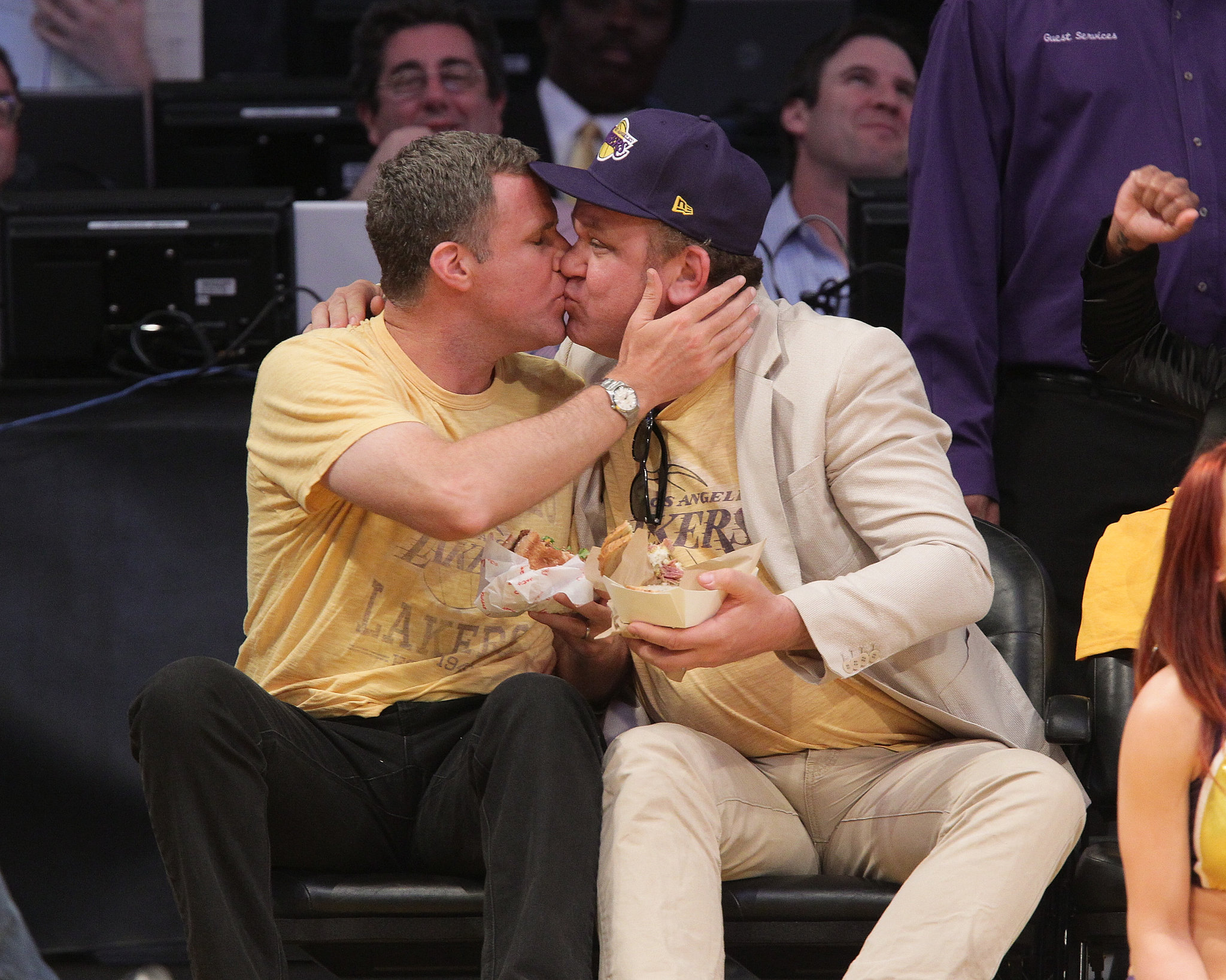 Will Ferrell and John C. Reilly have never been shy about their relationship. The two have starred in several movies together, including Talladega Nights, and Step Brothers, and at a Lakers game in 2011, they showed some PDA on the kiss cam.