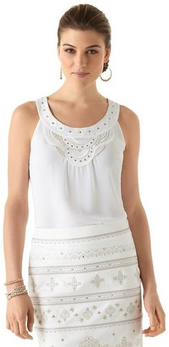 Embroidered Bead-Neck Shell