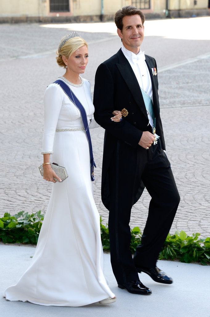 Crown Princess Marie-Chantal and Crown Prince Pavlos of Greece were among the guests.