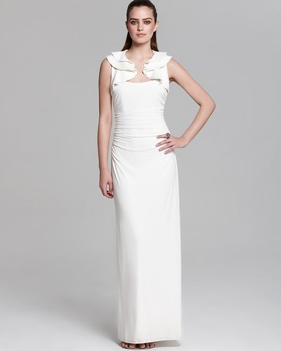 Laundry by Shelli Segal Gown - Ruffled Shoulder