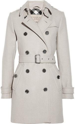 Burberry Brit Mid-length wool-blend trench coat