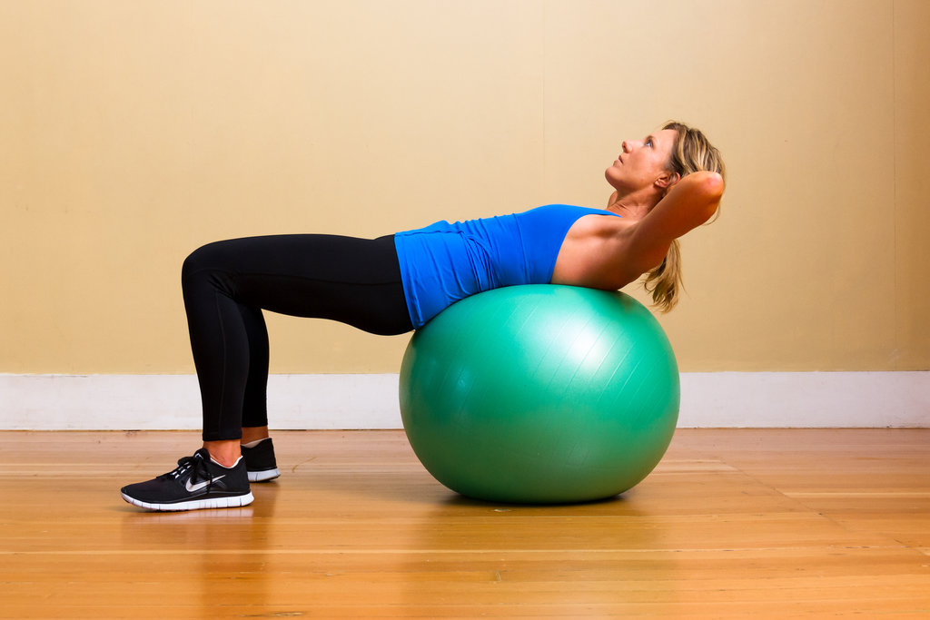 Upper Abs: Crunches on Exercise Ball