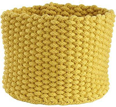 Small Yellow Kneatly Knit Rope Bin