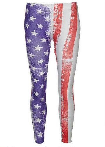 Distressed American Flag Legging