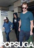 Alexander Skarsgard and Ellen Page arrived in LA with their The East director, Zal Batmanglij.