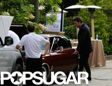 Ben Affleck's car breaks down in LA.