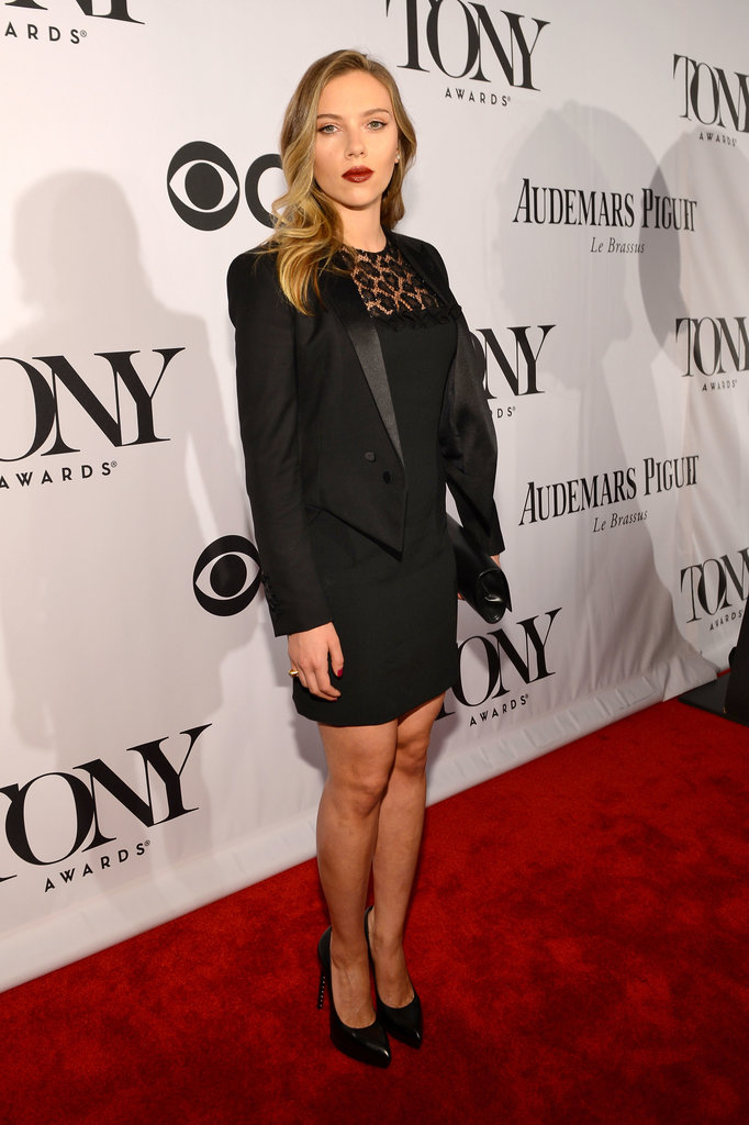 Scarlett Johansson wore Saint Laurent to the 2013 Tony Awards in New York.