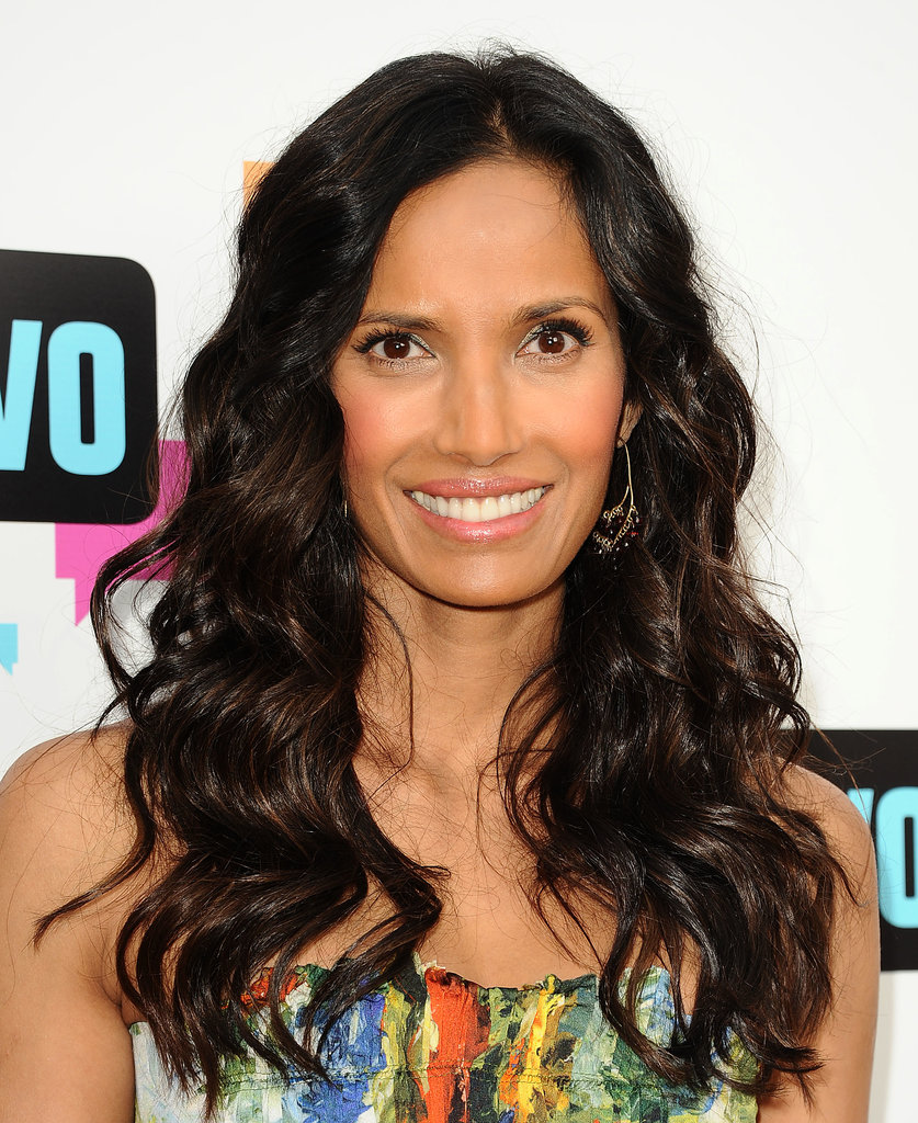 Reach for a shine spray to achieve Padma Lakshmi's glistening locks.