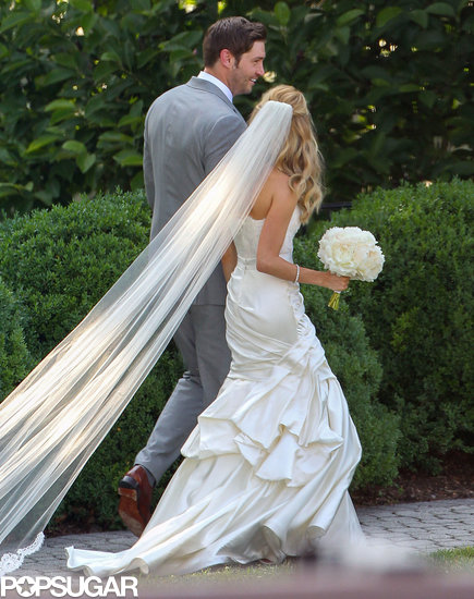 Kristin Cavallari's dress was long and luxurious.