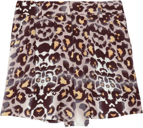 Mara Hoffman Animal-print lightweight crepe shorts