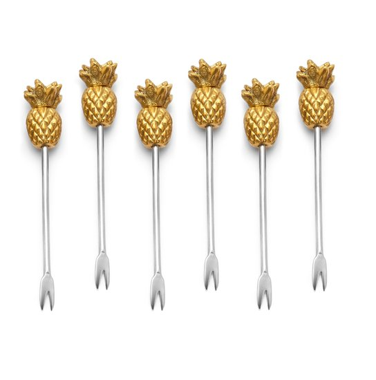 How fun are these pineapple cocktail picks ($28)? Piña colada, anyone?