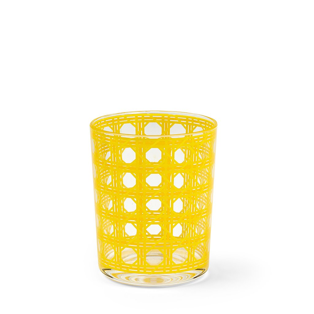 This cane-patterned glass ($8) was made for sipping iced tea or lemonade.