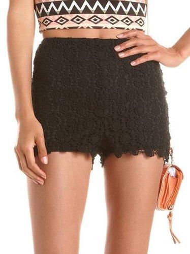 High Waisted Crochet Short