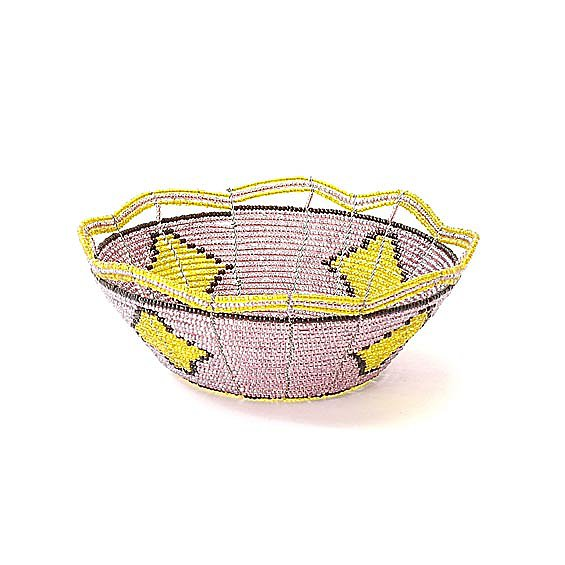 A beautiful beaded basket ($25) is ideal for holding seasonal fruits.
