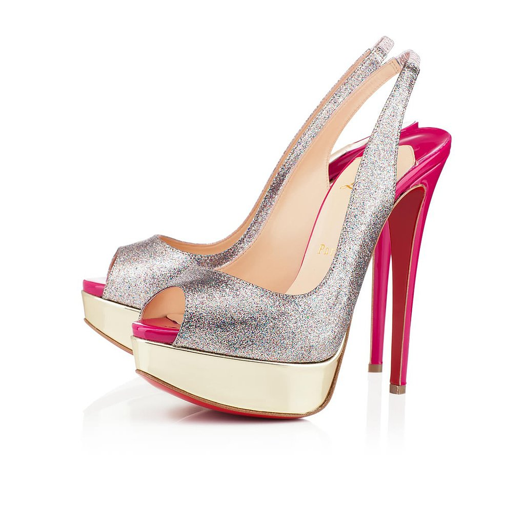 Every girl needs a party shoe! This season's addition ($945) is glitter on pink and gold.