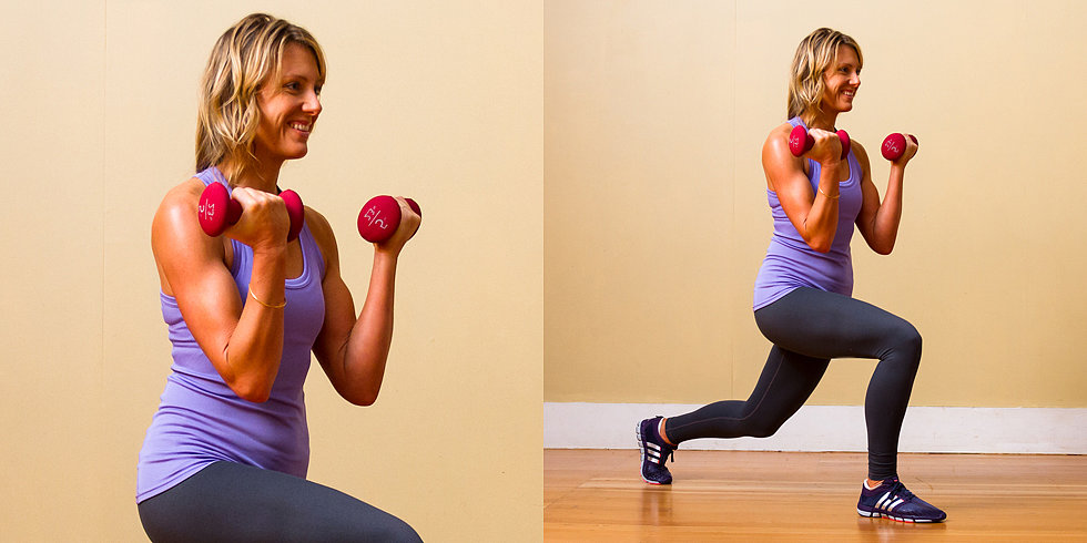 Back to Basics: Walking Lunge With Bicep Curl