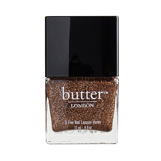 Named after a tan from a can, Butter London Bit Faker ($15) is made up of sparkling bronze glitter.