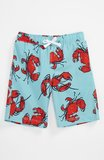 He'll be the furthest thing from crabby when he's sporting Tucker + Tate's printed red and aqua board shorts ($25).