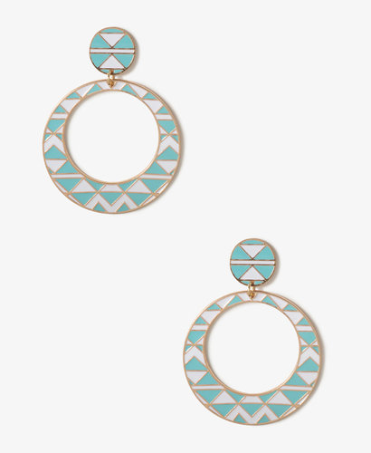 FOREVER 21 Tribal Pattern Drop Earrings