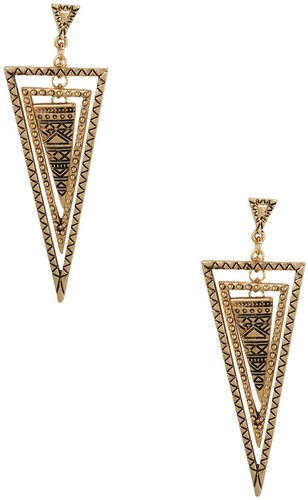 FOREVER 21 Arrowhead Drop Earrings