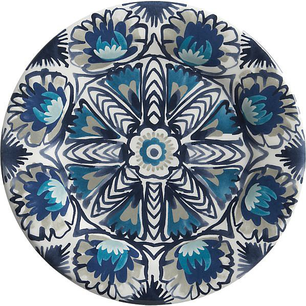 You'll have a hard time covering up the rich hues and design of this melamine plate ($6).