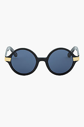 ELIZABETH AND JAMES Black Wooster teashade sunglasses