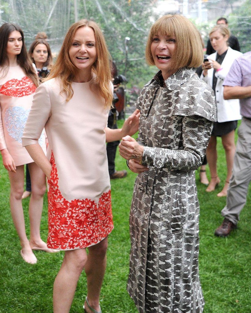 Anna Wintour joined Stella McCartney at her 2014 Spring collection presentation in NYC.