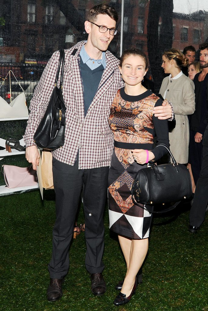 Vogue fashion news director Mark Holgate and Vogue social editor Chloe Malle at Stella McCartney's Resort 2014 presentation. Source: Billy Farrell/BFAnyc.com
