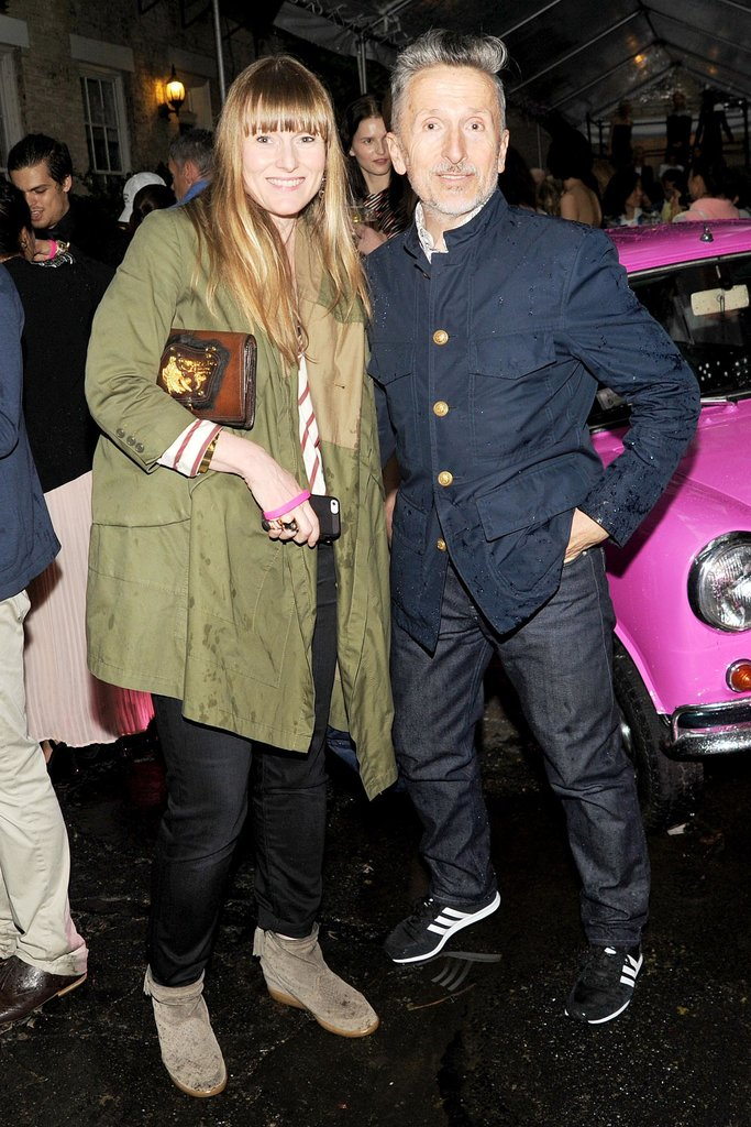 Teen Vogue editor in chief Amy Astley and Simon Doonan at Stella McCartney's Resort 2014 presentation in New York. Source: Billy Farrell/BFAnyc.com