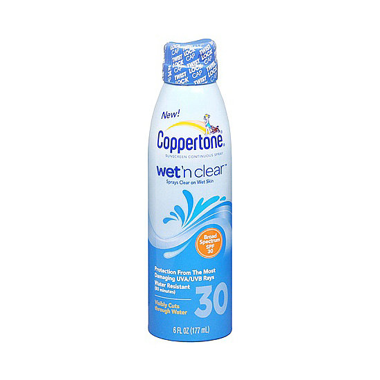 Stay protected even while you swim with Coppertone Wet 'n Clear Sunscreen Spray SPF 30 ($9, originally $12). Not only is it water-resistant; it can even be applied to wet skin.