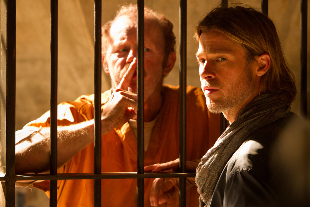 Be very quiet — even a prisoner is admiring Brad Pitt's beauty.