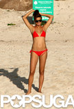 In December 2006, Adriana Lima went red hot in a bikini for a trip to St. Barts.