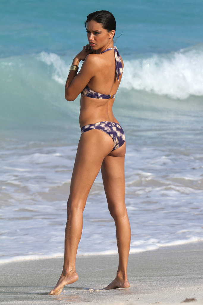In January 2012, Adriana Lima strutted her stuff on the beach in St. Barts.