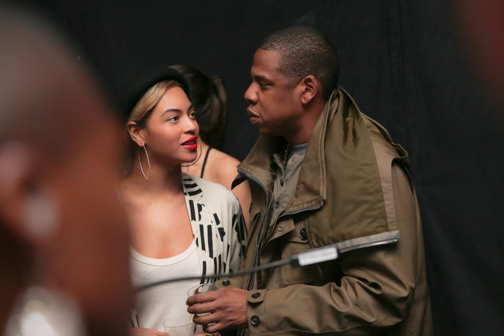 Beyoncé and Jay-Z quietly talked during the bash.