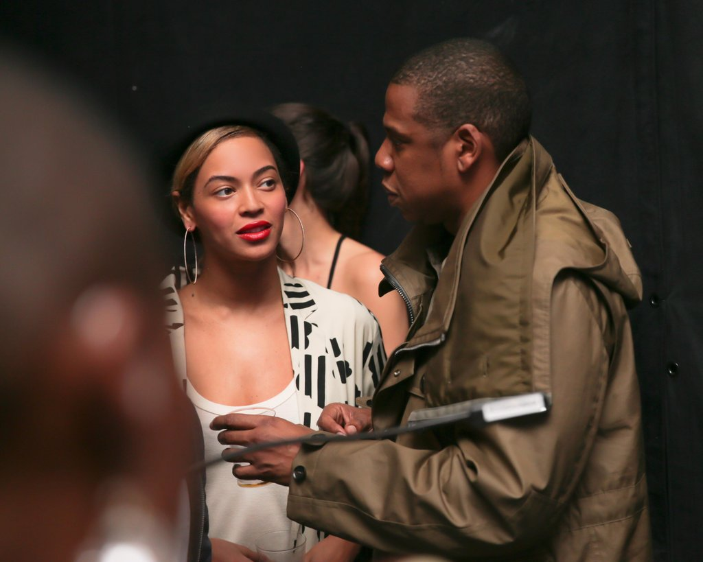 Beyoncé and Jay-Z chatted during the listening party.