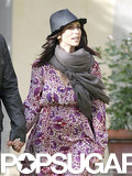 Jennifer Love Hewitt dressed her baby bump in a long, floral dress.