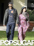 Jennifer Love Hewitt and Brian Hallisay walked together in Florence, Italy.