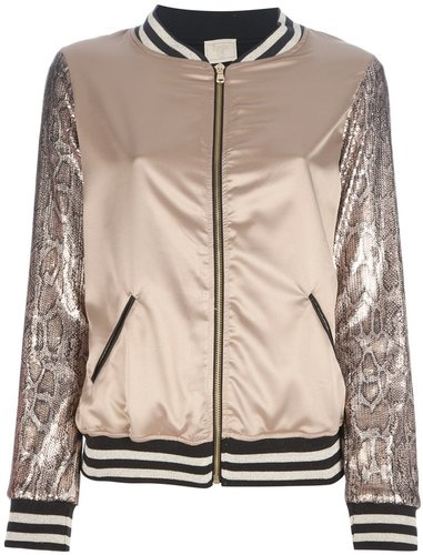 Bungle Chic sequined varsity jacket