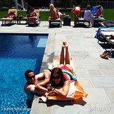 Sofia Vergara lounged by the pool to kick off her Summer festivities.  Source: Instagram user sofiavergara