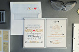 A look at the scientific invitations.  Source: Mariana Mosli, Kismisink Photography