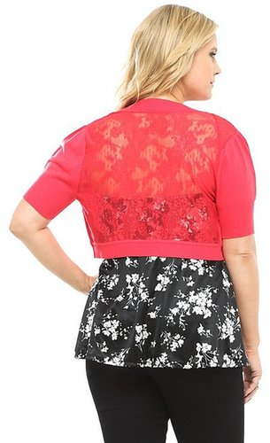 Red Lace Back Shrug