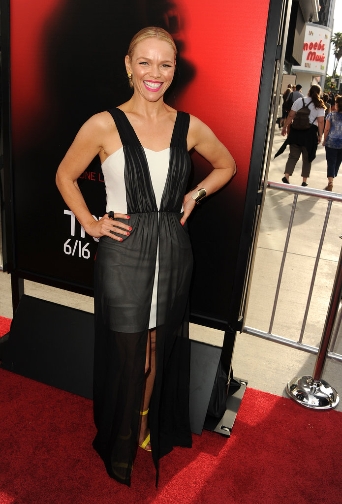 Lauren Bowles attended the season six premiere of True Blood.