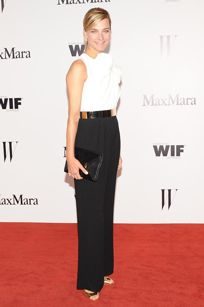 Nicola Maramotti chose an elegant white and black Max Mara jumpsuit. Source: Owen Kolasinski/BFAnyc.com