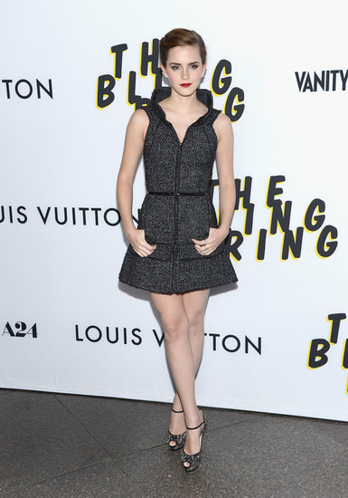 At the LA premiere of the flick, Emma was undeniably chic in a Chanel tweed minidress.