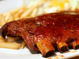 Mustard-Bourbon Glazed Ribs