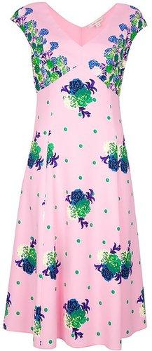 Marc Jacobs floral print midi dress
