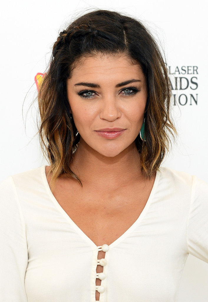 Jessica Szohr shows us how great a mini braid looks with tousled texture.