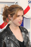 Add a little texture to your ponytail, like Anna Kendrick shows here, by subtly waving your strands. Just curl ends once you've pulled your hair back into a pony.