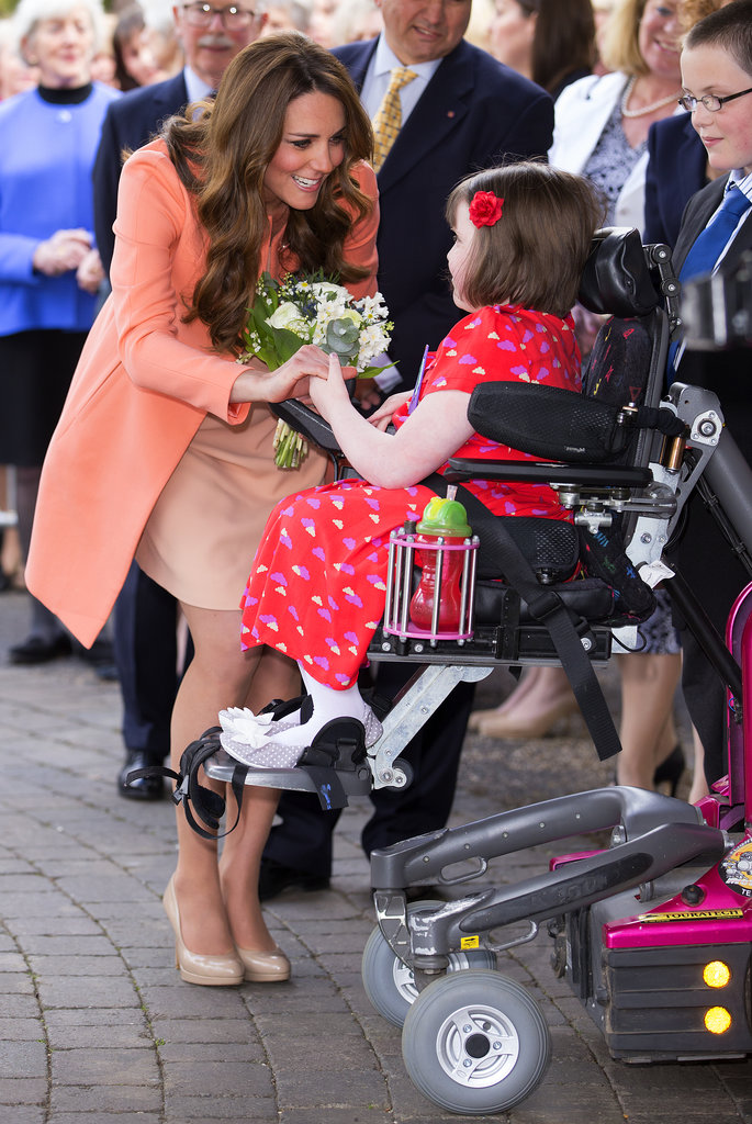 She celebrated her wedding anniversary in April 2013 by visiting the Naomi House Children's Hospice in Hampshire, England.