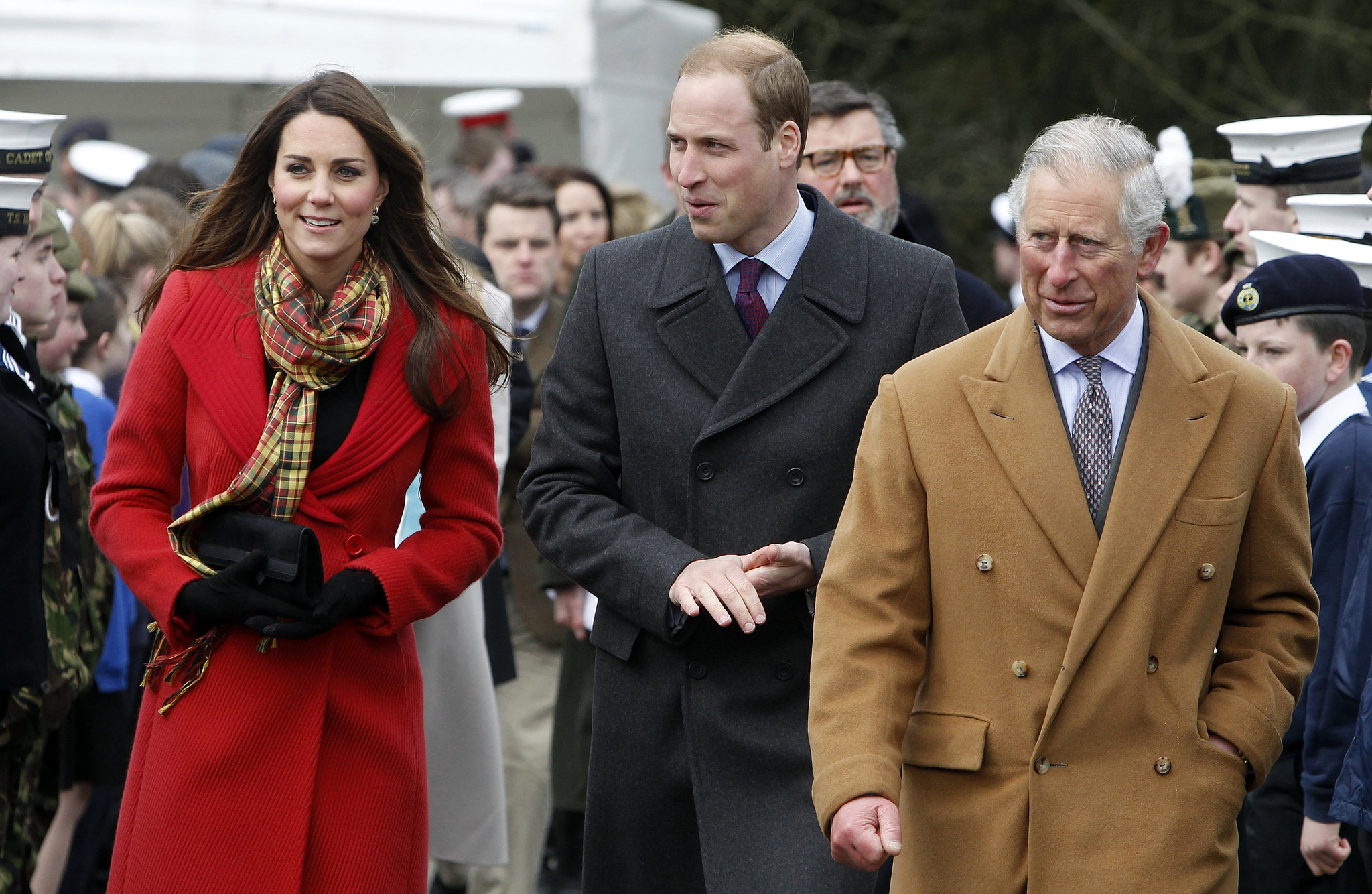 On April 5 2013 Kate Joined William And Prince Charles
